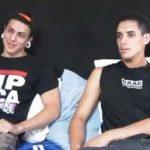 Garotos Latinos gays em uma boa transa porno
